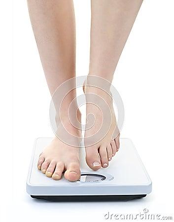 Free Feet On Bathroom Scale Stock Image - 20012081