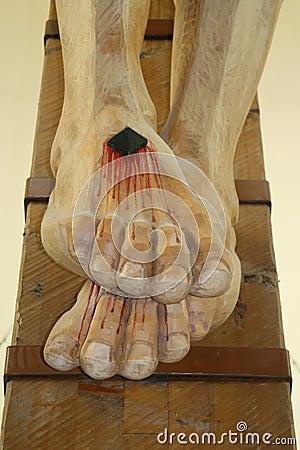 Feet pierced