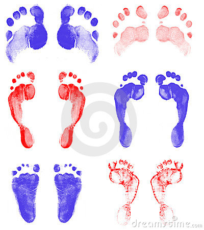Feet print