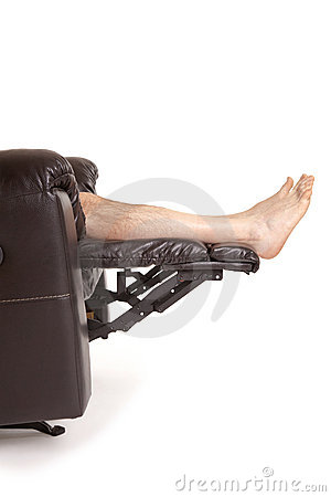Feet on a recliner
