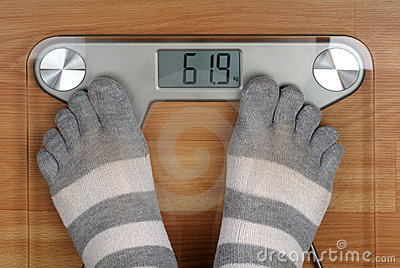 Feet on the scales