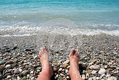 Feet and the sea