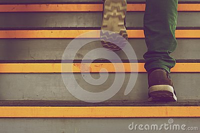 Feet On Stairs Free Public Domain Cc0 Image
