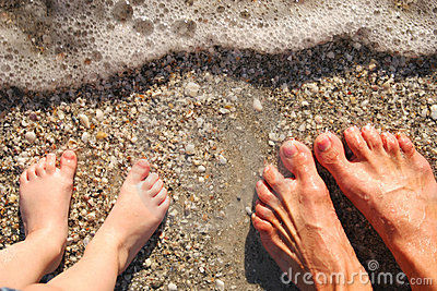 Feet in surf