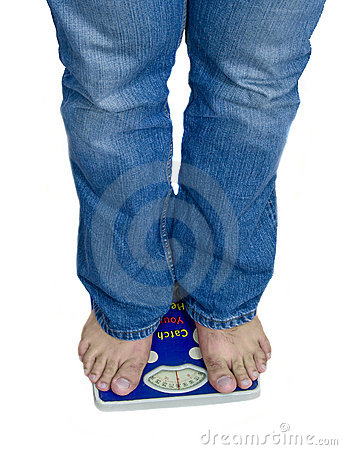 Feet and weight scale