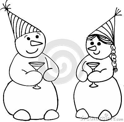 Feiern der Schneemänner