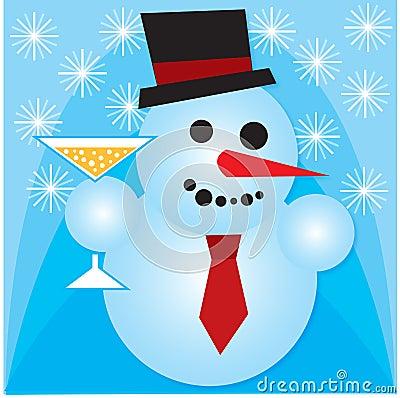 Feiern des Schneemanns