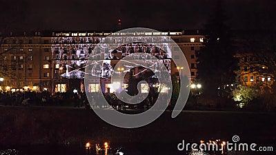 Feiertag des Lichtes in Riga stock video