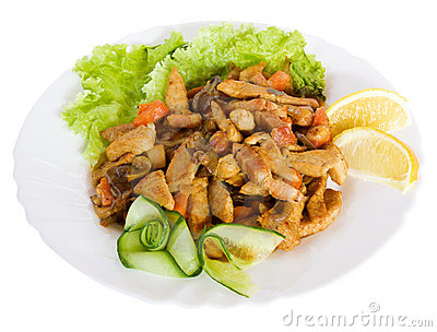 Feinschmeckerische Nahrung mit Salat
