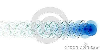 Feixe de energia azul