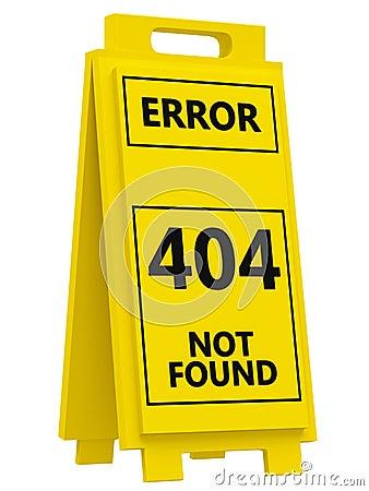 Fel 404 undertecknar