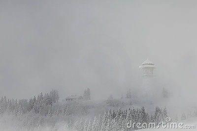 Felberg summit in fog