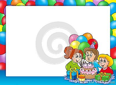 Feld mit dem Feiern der Kinder