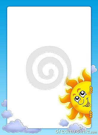 Feld mit lauerndem Sun