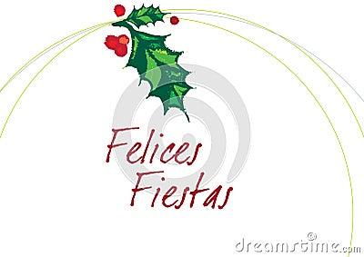 FELICES FIESTAS Blanco