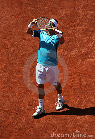 Feliciano Lopez (ESP) at Roland Garros 2011 Editorial Image