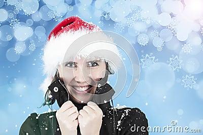 Felicidad en el frío del invierno