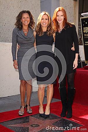 Felicity Huffman, Marcia Cross, Vanessa Williams, William H Macy Editorial Photo