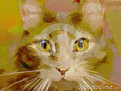 Felino - pintura de Digitaces