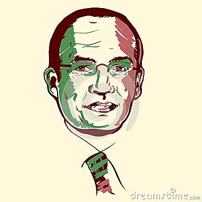 Felipe Calderon portrait Editorial Stock Image