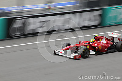 Felipe Massa in action Editorial Photo