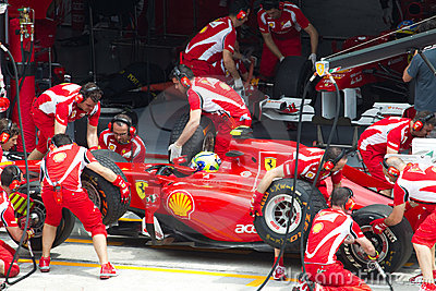 Felipe Massa does a trial pit Editorial Photography