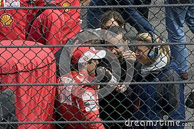 Felipe Massa and Formula 1 Race Spa Francorchamps Editorial Stock Photo