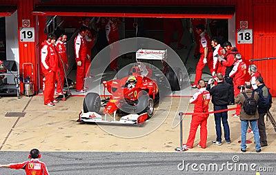 Felipe Massa in the pits Editorial Image