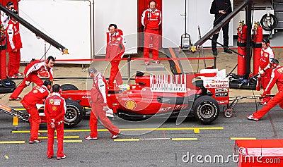 Felipe Massa in the pits Editorial Stock Photo