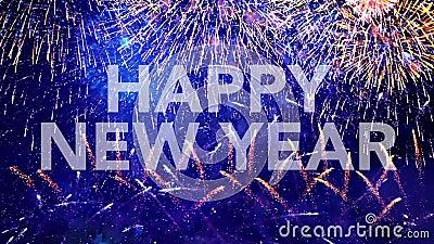 Feliz Año Nuevo, tarjeta de felicitación almacen de video