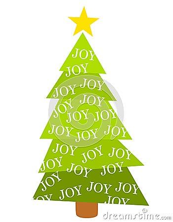 Feliz alegría del árbol de navidad