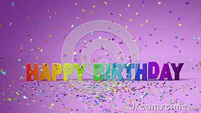 Feliz cumpleaños, animación divertida 3d HD lleno