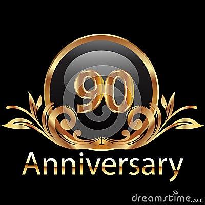 Feliz cumpleaños de 90 aniversarios