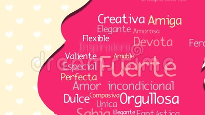 Feliz dia de la madre happy mothers day in spanish language feliz dia de la madre happy mothers day in spanish language greeting card pink silhouette of pregnant woman stock footage video of family m4hsunfo