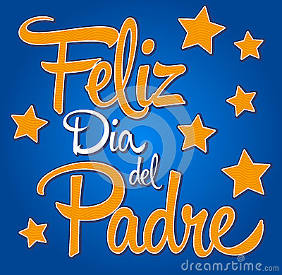 Feliz dia de padre-spanish-text Happy fathers day