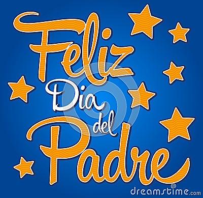 Feliz dia de padre-spanish-text Happy fathers day