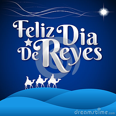 Feliz Dia De Reyes  Happy Day Of Kings Spanish Text Stock Vector  Image: 64340266