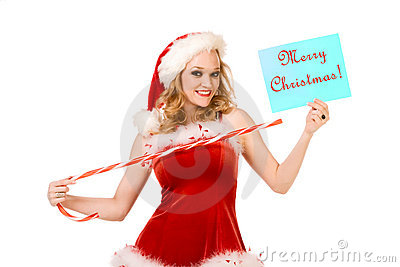 Feliz Natal do pino  sexy  acima da Sra. Papai Noel