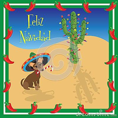 Feliz navidad chihuahua royalty free stock images image for Cactus de navidad