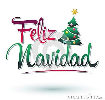 Feliz Navidad Clip Art feliz navidad - merry christmas spanish stock ...