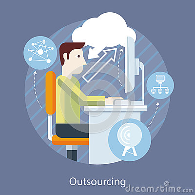 Free Fellow Front Of Monitor Information Through Cloud Royalty Free Stock Photo - 55821775
