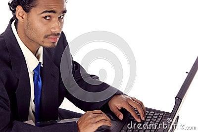 Fellow on his laptop