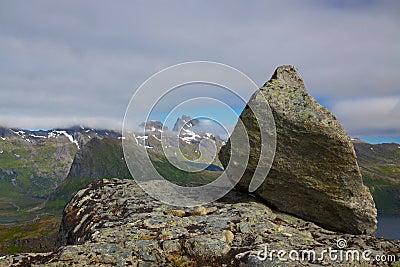 Felsen auf Gipfel