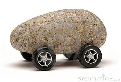 Felsen-Auto