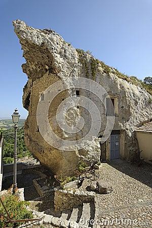 Altes haus benannt domus de jana aufgebaut innerhalb einer