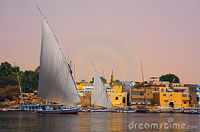 Felucca on the Nile in Egypt