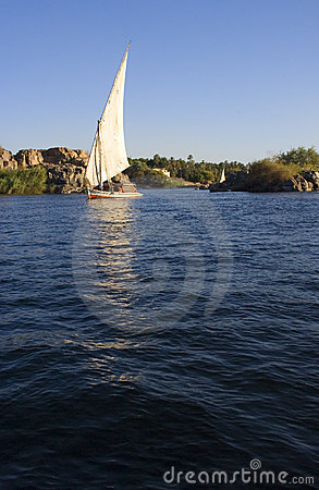 Felucca on the Nile River in Egypt, Travel