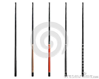 Fem magiska wands