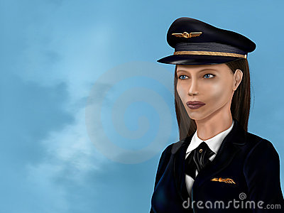 Female airline pilot