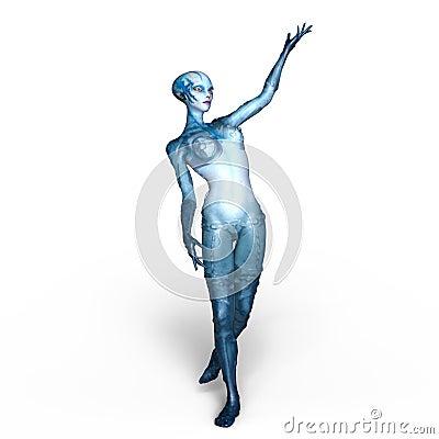 Free Female Alien Royalty Free Stock Photos - 96059518